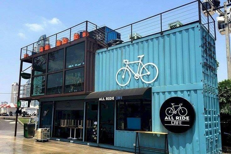 kinh doanh cafe container độc lạ