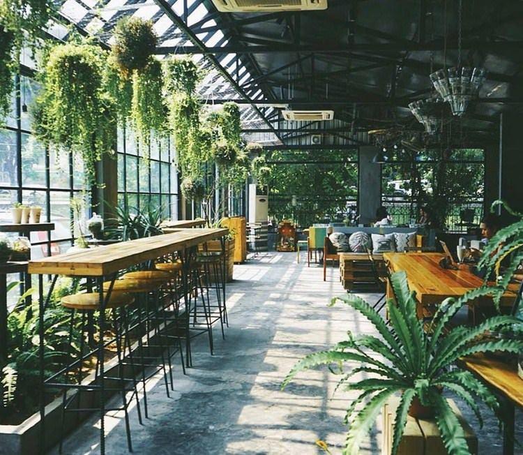 mô hình cafe sân vườn đẹp