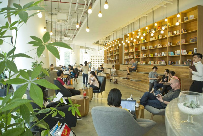 quán cafe sách có thiết kế đẹp tại Hà Nội