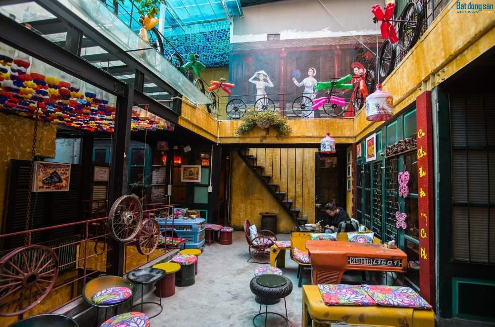 nội thất trang trí quán cafe