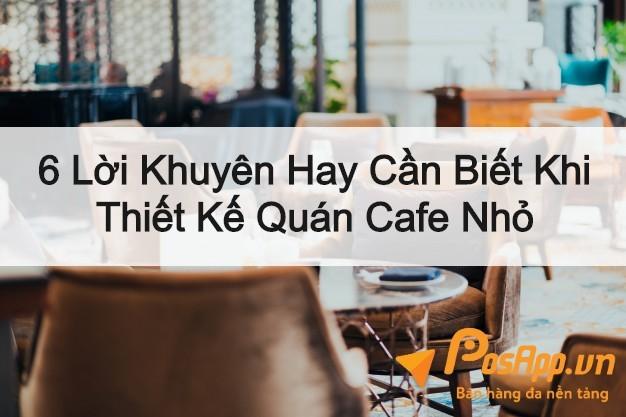 thiết kế quán cafe nhỏ