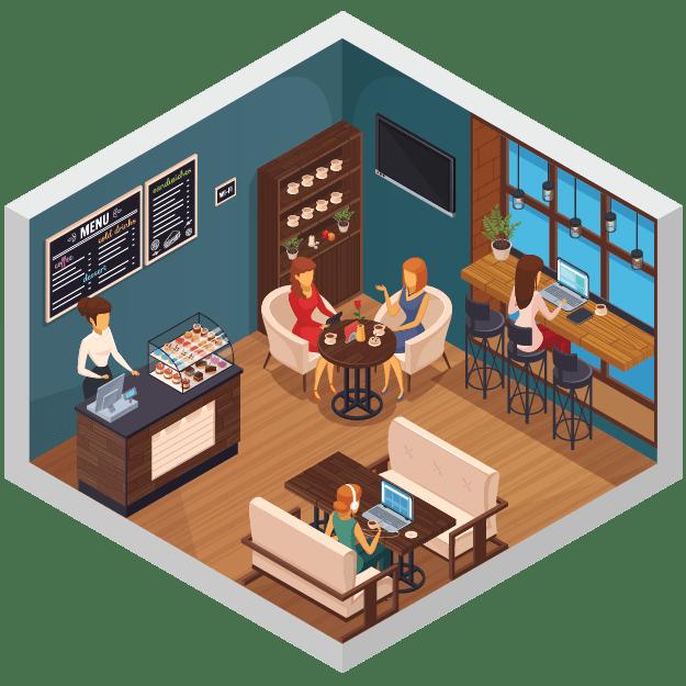 thẻ rung tự phục vụ cho quán cafe