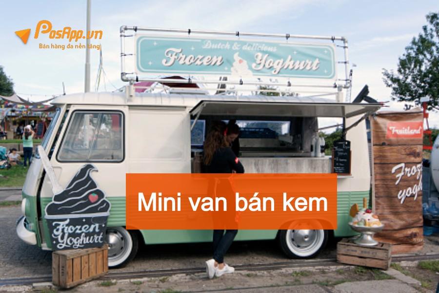 xe mini van lưu động bán kem