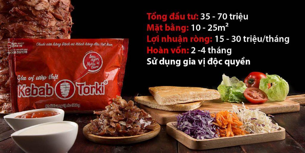 chi phí nhượng quyền kebab torki