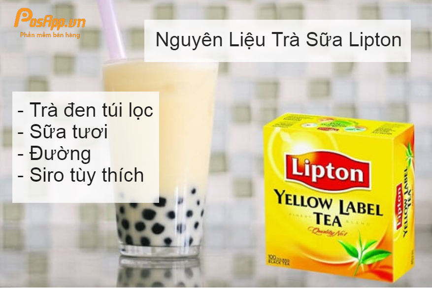 Trà sữa lipton
