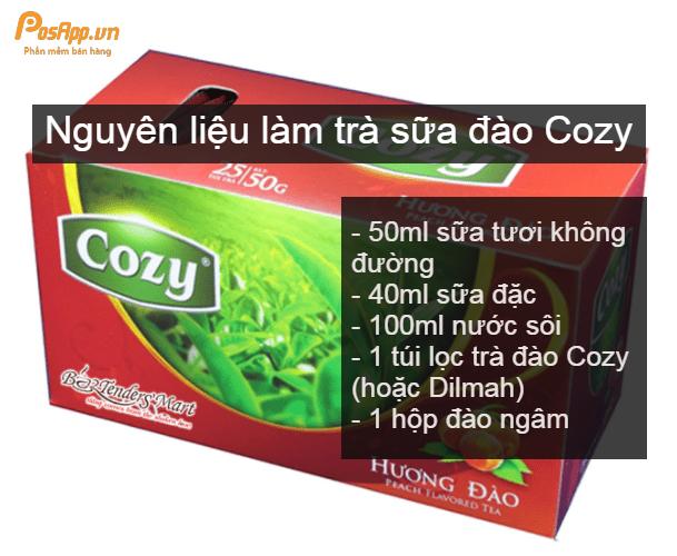 Trà sữa đào Cozy