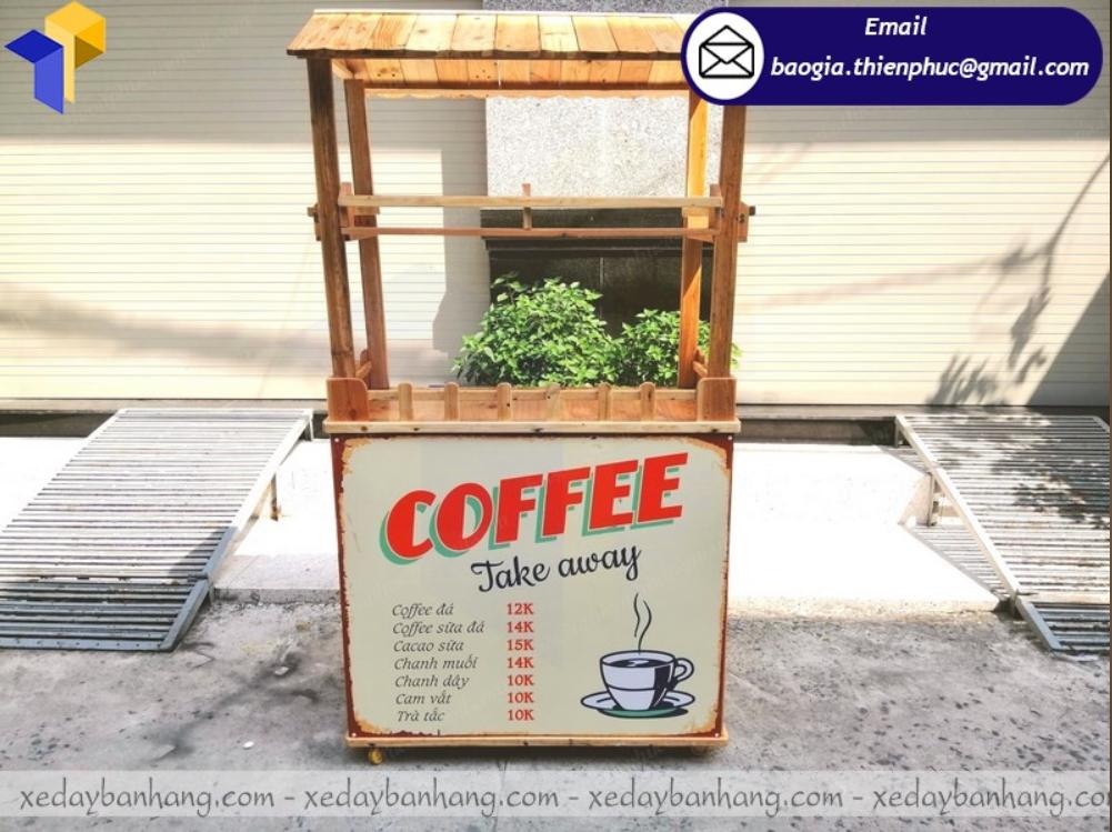 trang trí xe cà phê