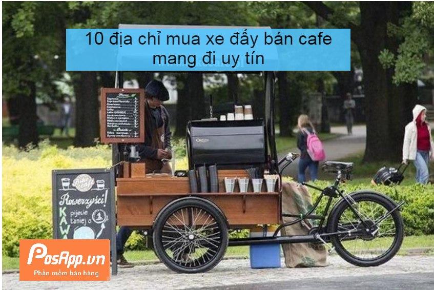 xe đẩy cafe mang đi