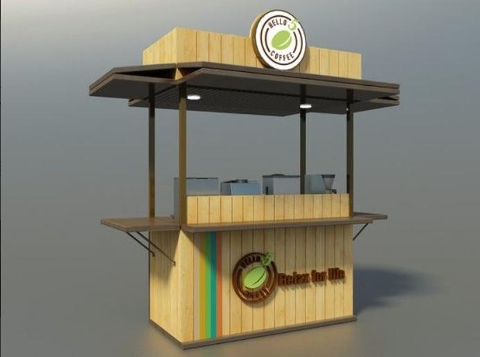 xe cà phê bằng gỗ