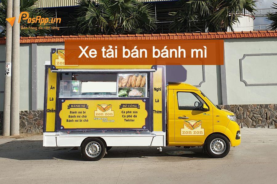 Xe bán bánh mì - hamburger lưu động