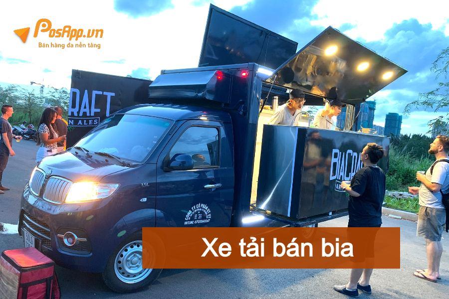 xe tải bán bia lưu động