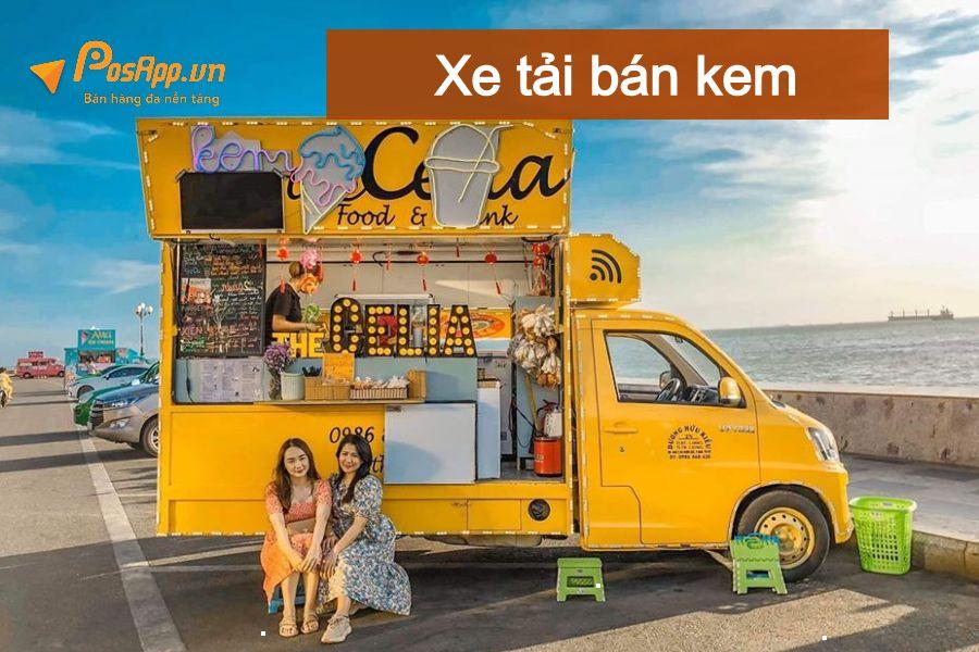 xe tải bán kem lưu động