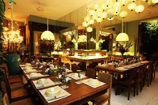 ánh sáng nhà hàng