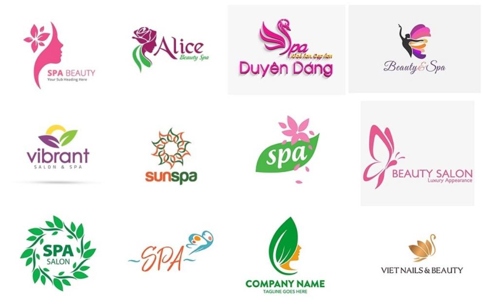 các mẫu logo cho spa