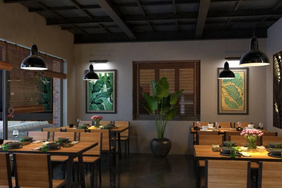 thiết kế nhà hàng HQ
