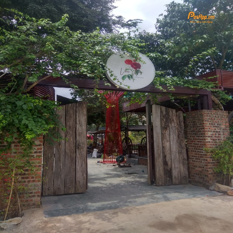 quán vườn hồng
