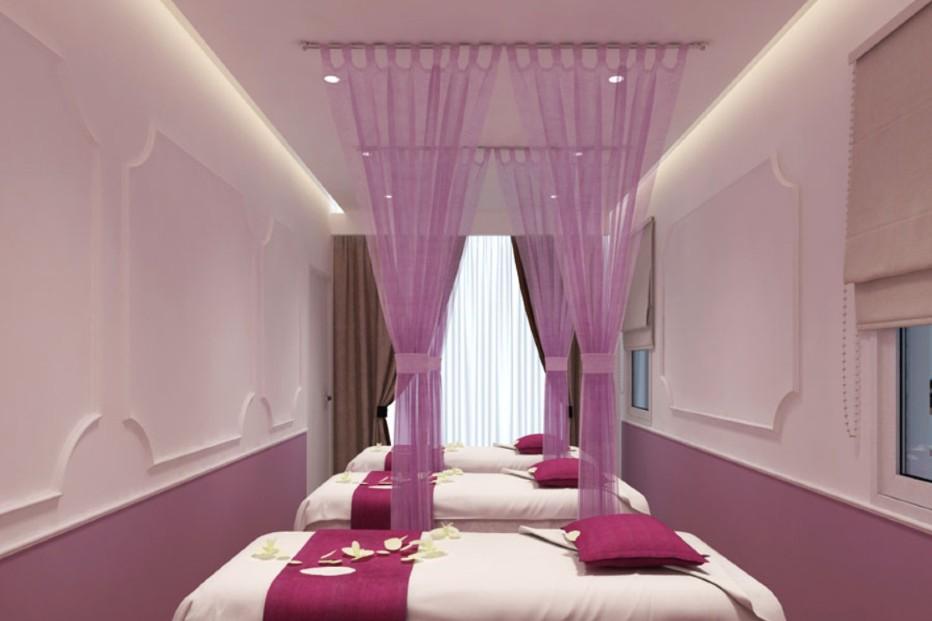 thiết kế màu cho spa