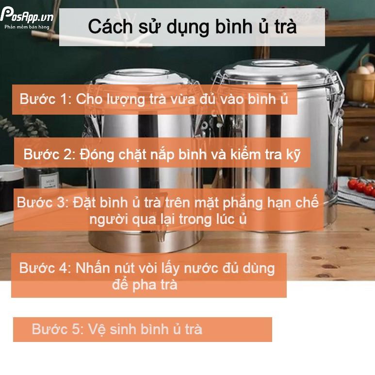 Cách sử dụng bình ủ trà