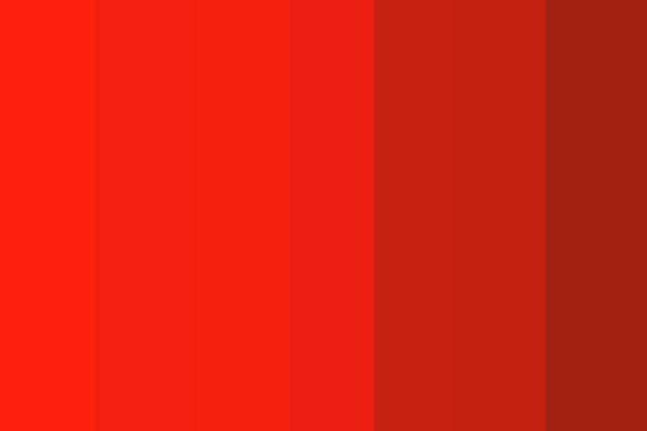 tông màu đỏ