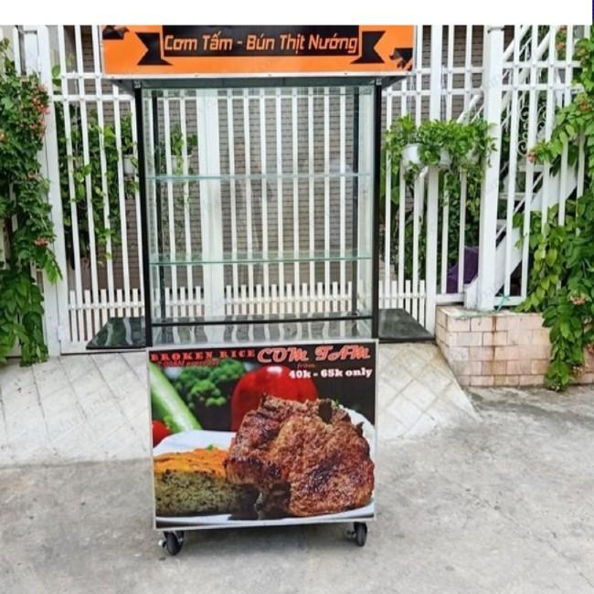 Xe bán cơm tấm và bún