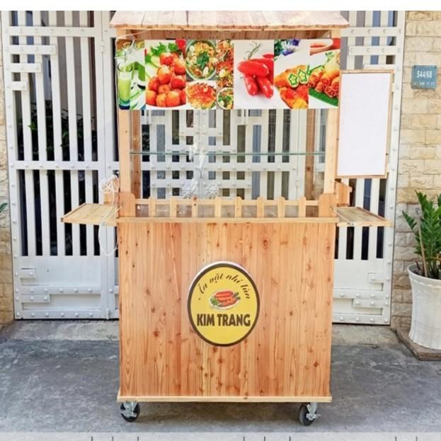 Xe bán đồ ăn vặt bằng gỗ