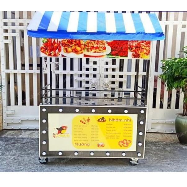 Mẫu xe bán đồ ăn vặt bằng inox