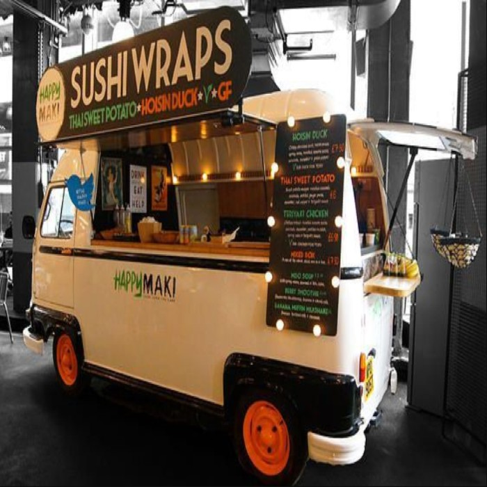 xe food-truck bán sushi