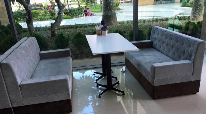 bàn ghế cafe không tay