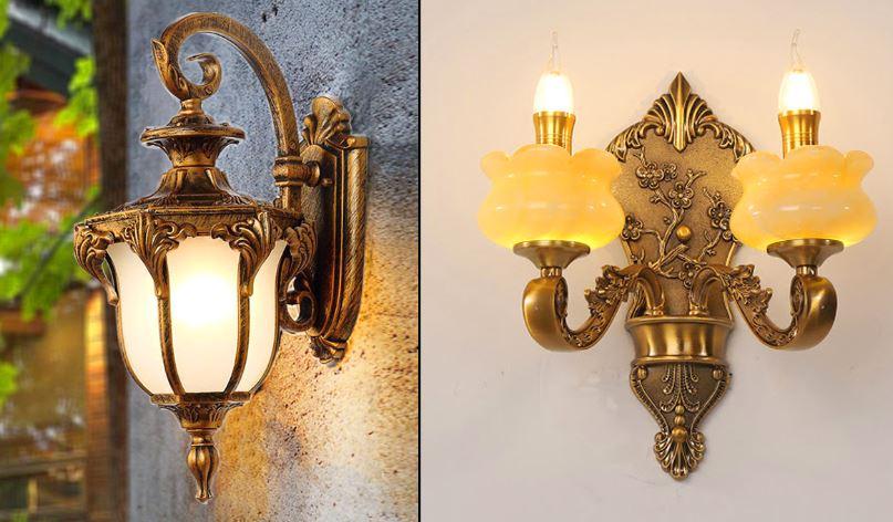 đèn tường cafe cổ điển