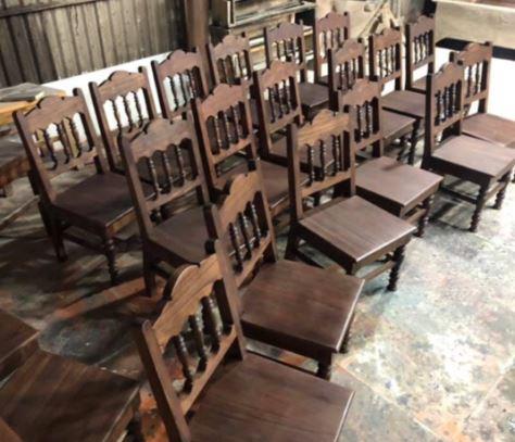 Bàn ghế gỗ cafe Aha