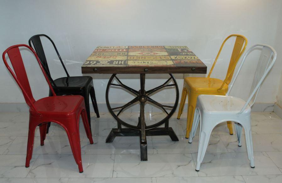 Bàn ghế cafe bằng sắt
