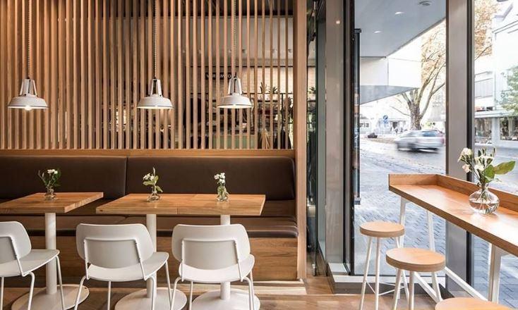 Bàn ghế quán cà phê - trà sữa tối giản