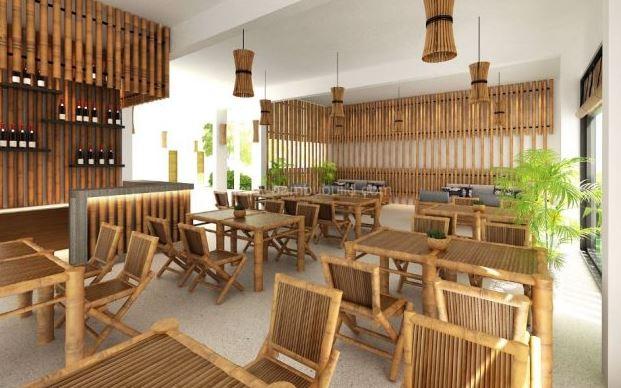Bàn ghế cafe bằng tre