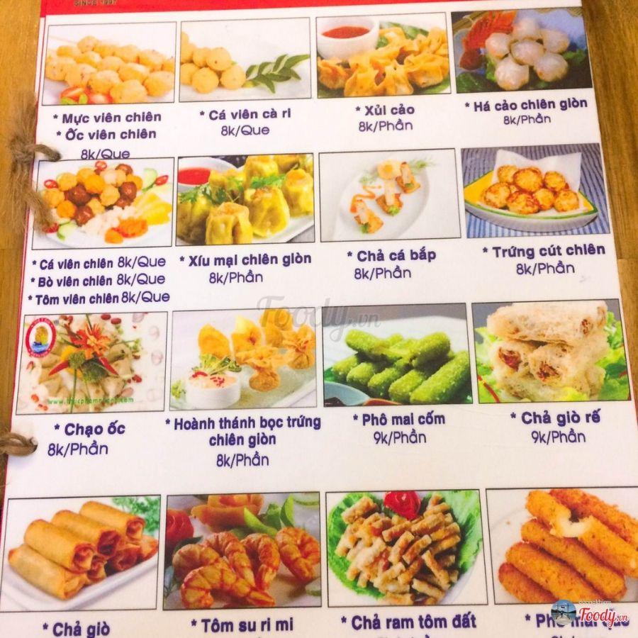 mẫu menu quán ăn vặt