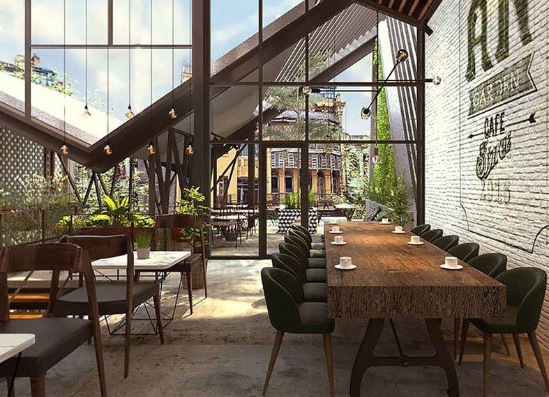 Thiết kế nhà hàng Khung thép