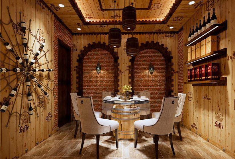 Thiết kế nhà hàng Rượu vang