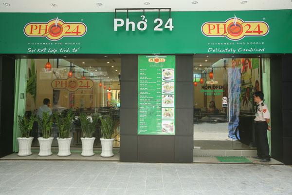 cửa hàng phở 24h