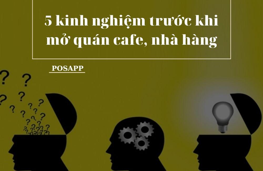 mở quán cafe, nhà hàng vừa và nhỏ
