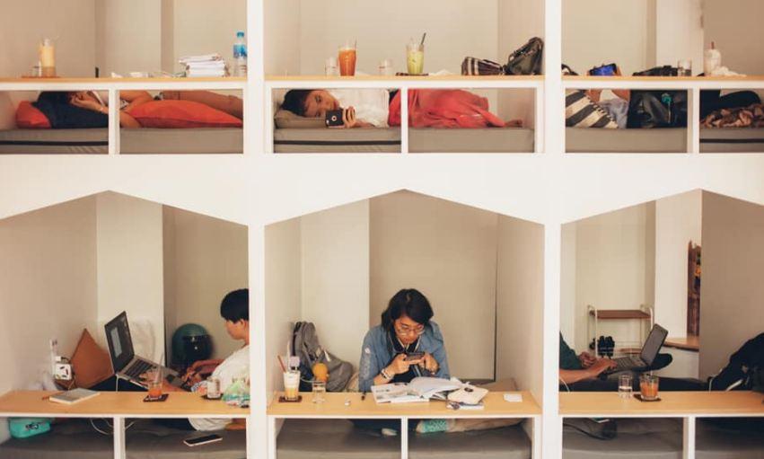 cafe giường nằm thoải mái riêng tư