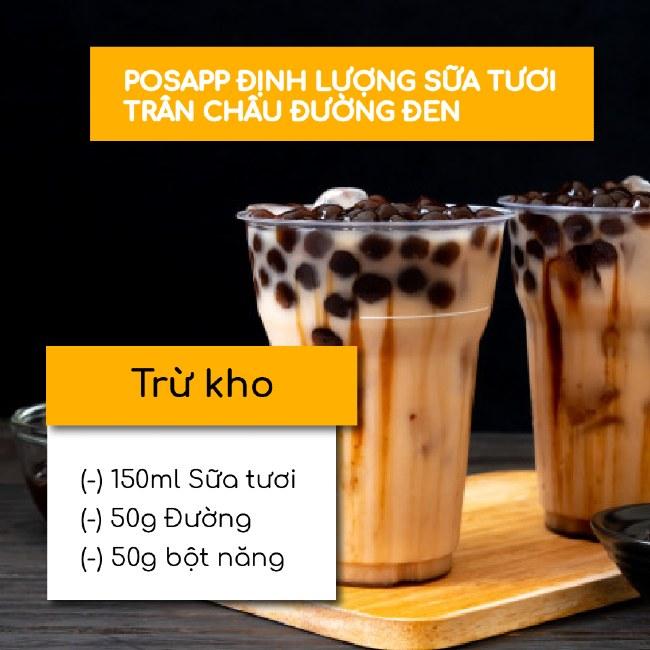 định lượng trà sữa