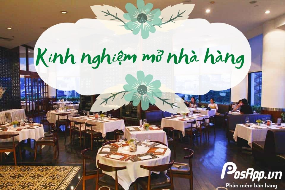 kinh nghiệm mở nhà hàng