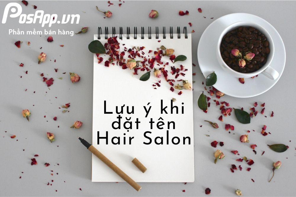 lưu ý khi đặt tên hair salon