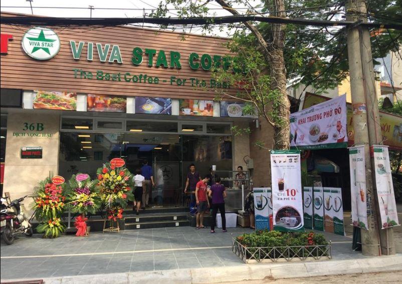 nhượng quyền cafe viva star
