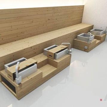 ghế làm nail bằng gỗ đẹp