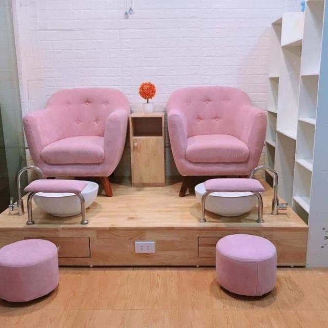 ghế làm nail đơn mùa hồng