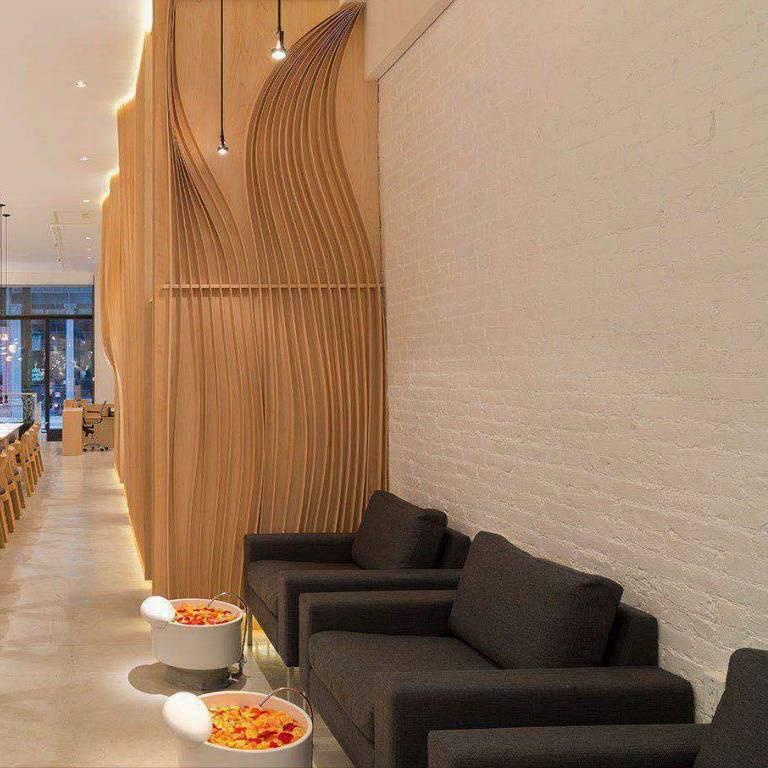 ghế làm nail có thiết kế bồn rời đơn giản