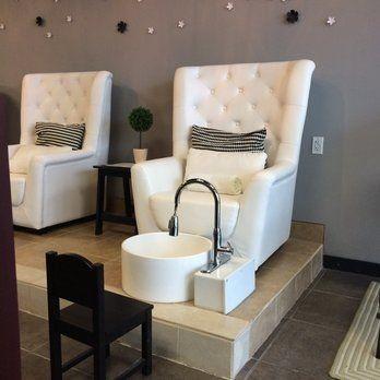 ghế làm nail sofa màu trắng