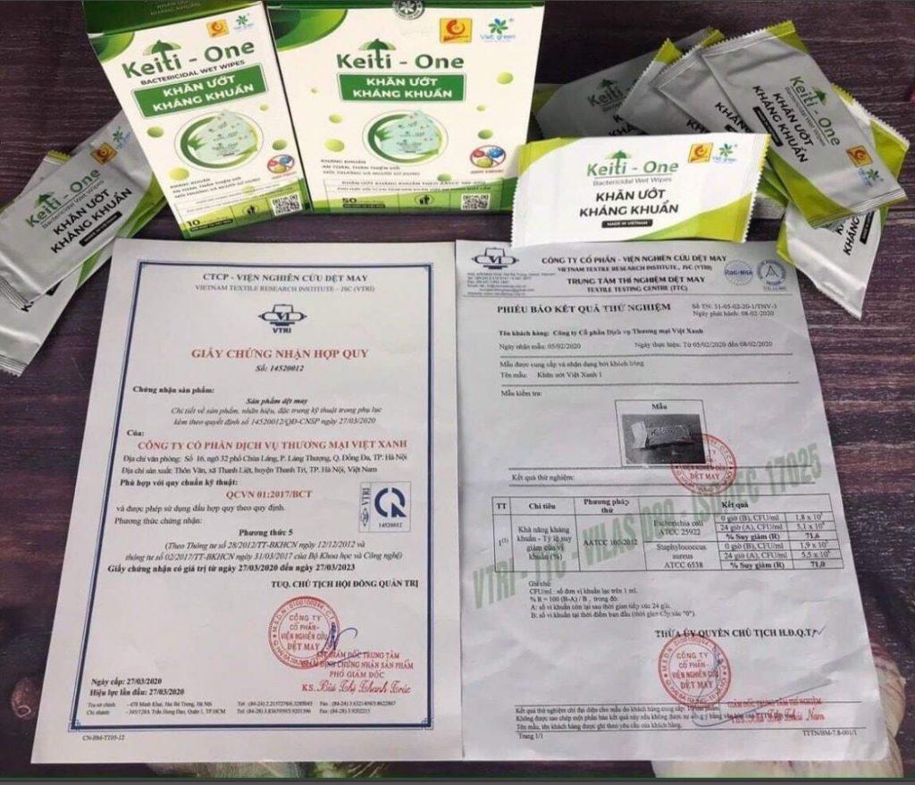 giấy chứng nhận Việt Xanh