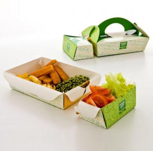 hộp giấy đựng thức ăn có nắp cài