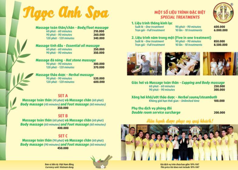 Poster Ngoc Anh Spa